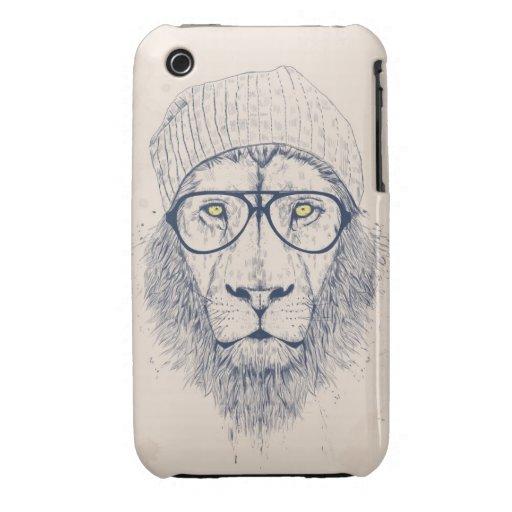 León fresco iPhone 3 cárcasas