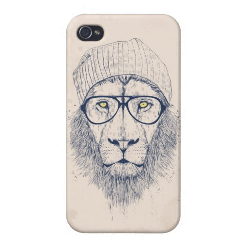 León fresco iPhone 4/4S carcasa