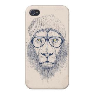 León fresco iPhone 4 fundas