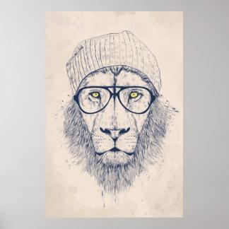 León fresco póster