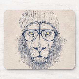 León fresco tapetes de ratón