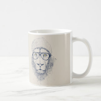 León fresco taza básica blanca