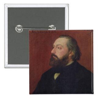 Leon Gambetta  1875 Button