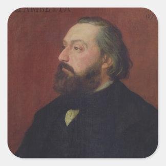 Leon Gambetta  1875 Square Sticker