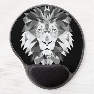 León geométrico de plata alfombrillas de ratón con gel