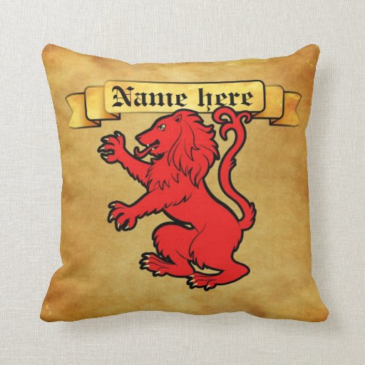 León heráldico estilizado almohada