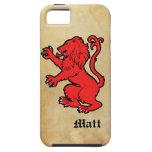 León heráldico estilizado iPhone 5 Case-Mate protector