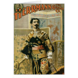 Leon Herrmann  Magician ~ Vintage Magic Act Stationery Note Card