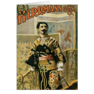 Leon Herrmann  Magician ~ Vintage Magic Act Card