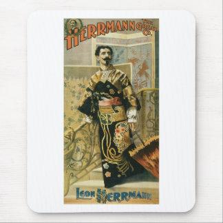 Leon Herrmann  Magician ~ Vintage Magic Act Mouse Pad