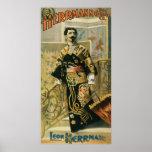 Leon Herrmann  Magician ~ Vintage Magic Act Poster