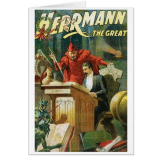 Leon Herrmann The Great ~ Vintage Magic Act Card