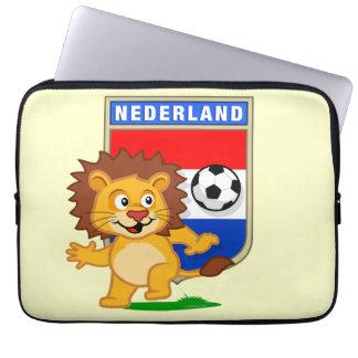 León holandés del fútbol funda computadora