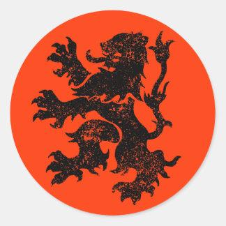 León holandés pegatina