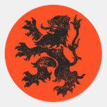 León holandés pegatina redonda