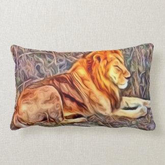 león imagen alterada cojines