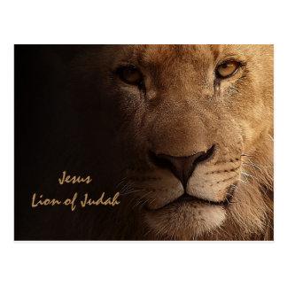 León inspirado de Jesús del cristiano de Judah Tarjeta Postal