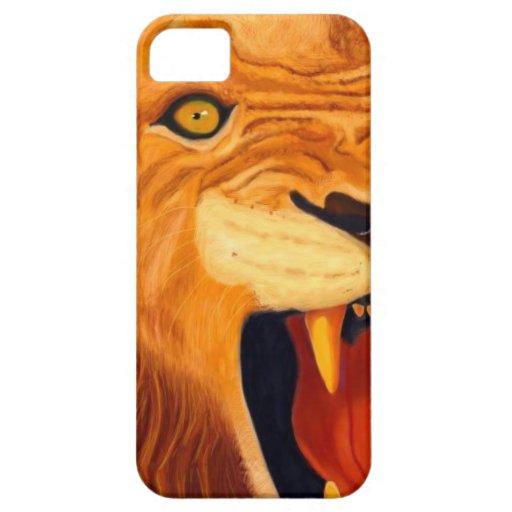 león iPhone 5 carcasas