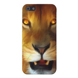 León IPHONE del guerrero iPhone 5 Protectores
