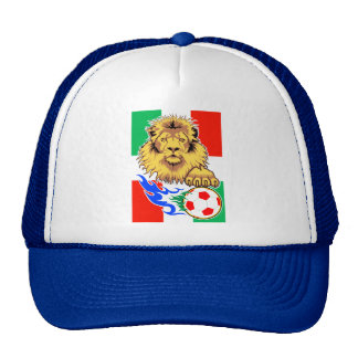 León italiano, mexicano o húngaro del fútbol gorro