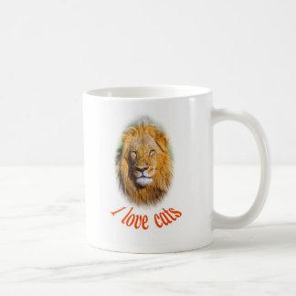 León joven tazas de café