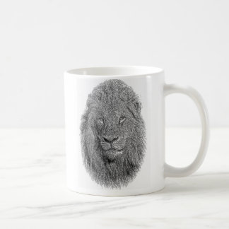 León joven taza