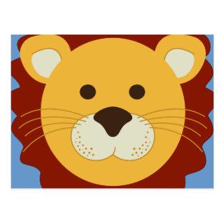 León juguetón postal