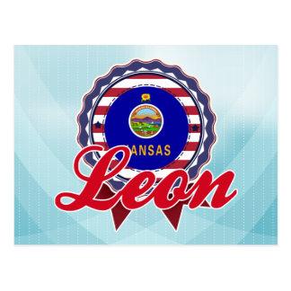 León, KS Tarjetas Postales