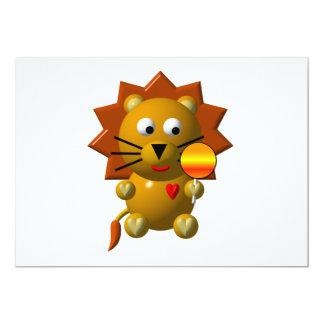 """¡León lindo con el lollipop! Invitación 5"""" X 7"""""""