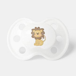 león lindo del bebé del dibujo animado chupetes de bebe