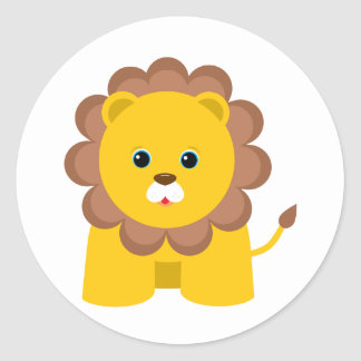 León lindo del bebé pegatina redonda
