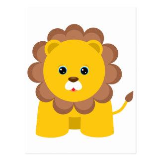 León lindo del bebé postales