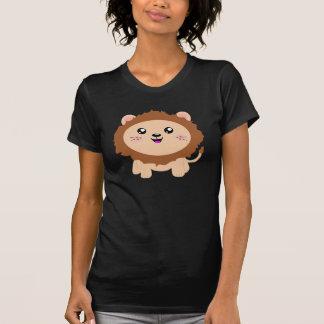 León lindo del dibujo animado camiseta