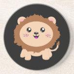 León lindo del dibujo animado posavasos personalizados