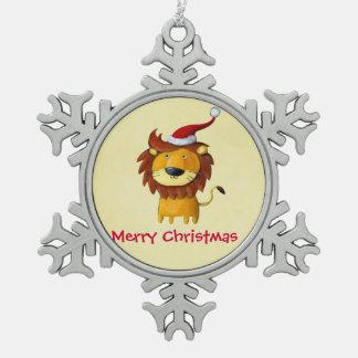 León lindo del navidad adornos