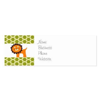León lindo en los regalos verdes del modelo para l tarjetas de visita