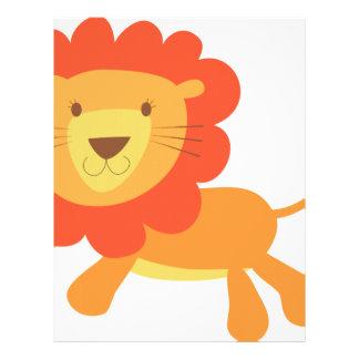 león lindo plantilla de membrete
