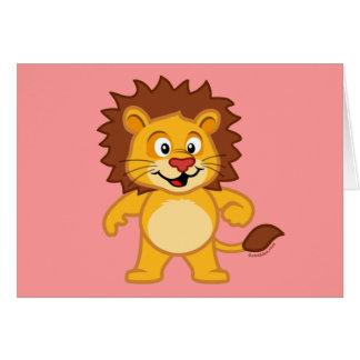 León lindo tarjeta de felicitación