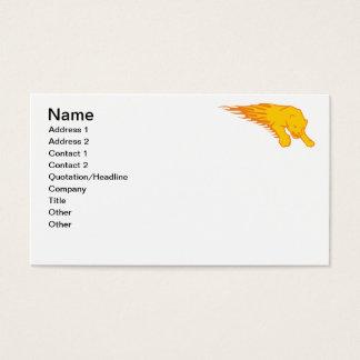 León llameante #3 tarjeta de negocios