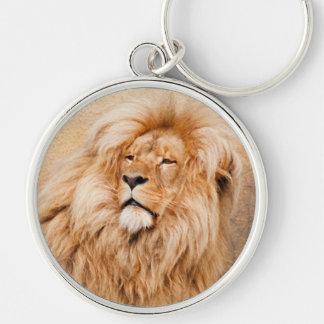 León majestuoso llavero personalizado