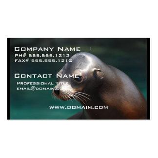 León marino adorable plantilla de tarjeta de visita