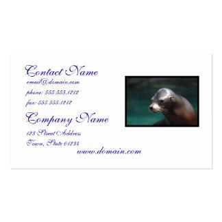 León marino adorable tarjetas de visita