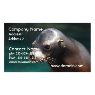 León marino adorable tarjetas personales