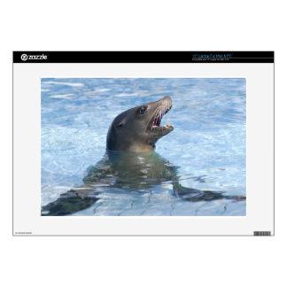 León marino de California del retrato Calcomanía Para 38,1cm Portátil