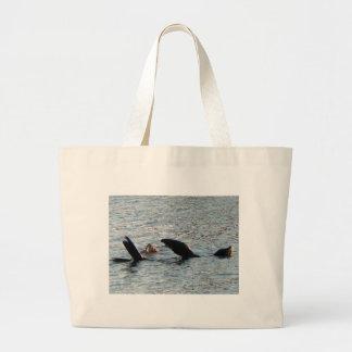 León marino de la costa bolsa tela grande