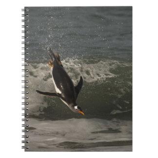 León marino del pingüino de Gentoo (Pygoscelis Pap Note Book