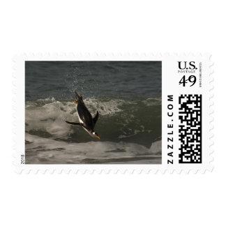 León marino del pingüino de Gentoo (Pygoscelis Timbres Postales