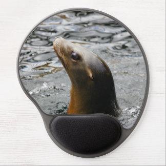León marino en el agua - fotografía animal alfombrilla gel
