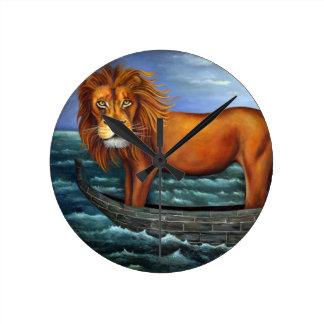 León marino reloj de pared