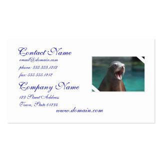 León marino ruidoso tarjetas de visita